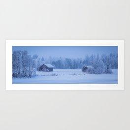 Frosty Crust Art Print