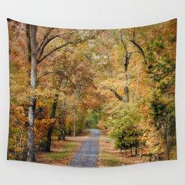 Autumn Passage 2 - Fall Landscape Scene Wall Tapestry