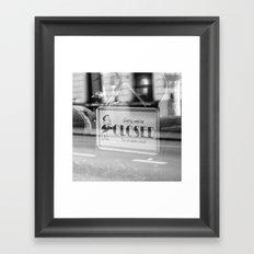 Closed Framed Art Print