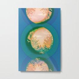 Tree Blue and Coral Metal Print