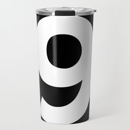Number 9 (White & Black) Travel Mug