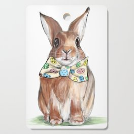 Easter Bunny wearing Bow Tie Cutting Board