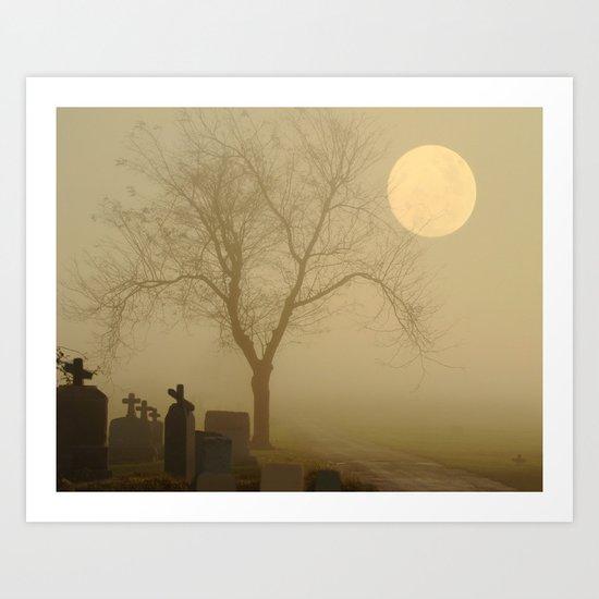 Encroaching Fog Art Print