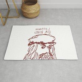 Da Vinci Was Left Handed Rug