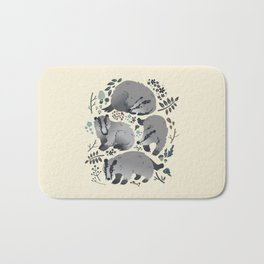 Badgers of the forest Bath Mat