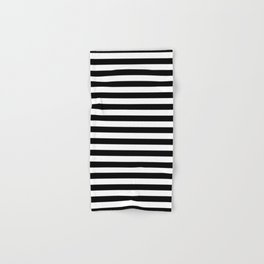 Stripe Black And White Vertical Line Bold Minimalism Hand & Bath Towel