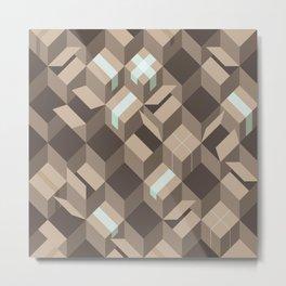 Stacking Cardboard Boxes Metal Print