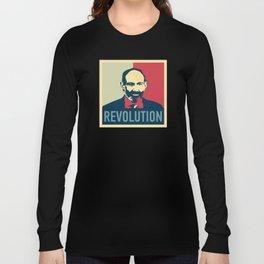 Duxov. Nikol Pashinyan. Armenian revolution. #society6 #decor #buyart #artprint Long Sleeve T-shirt