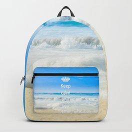 keep calm and live Aloha Backpack