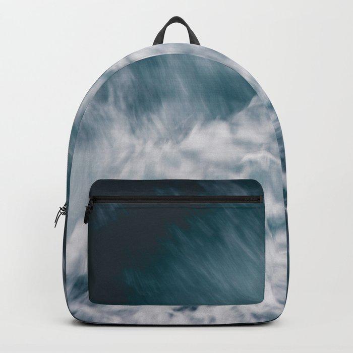 Wild Ocean Waves Backpack