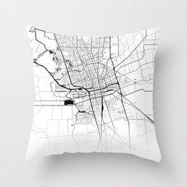 Map of the City Neck Gaiter Stockton California Map Neck Gator Throw Pillow