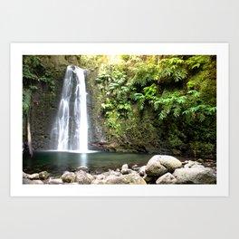 lime green waterfall Art Print