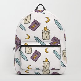 Seamless Vector Pattern, Spiritual Symbols and Well Being Concept Backpack