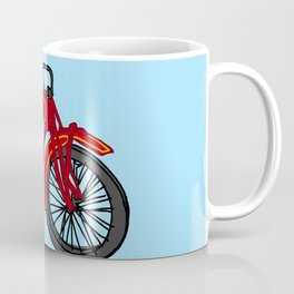 Red Antique Motorcycle Coffee Mug