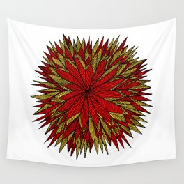 Prickly Star Color Wall Tapestry