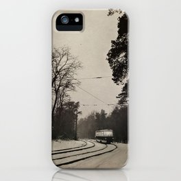 forest tram iPhone Case
