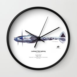 Lockheed P-38J Lightning Wall Clock
