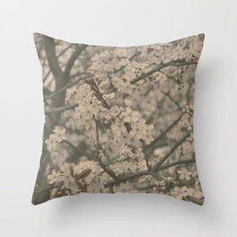 Pastel Flowers Throw Pillow