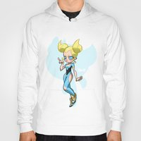 powerpuff girls Hoodies featuring Bubbles - The Powerpuff Girls by zeoarts