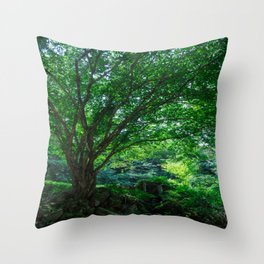The Greenest Tree Throw Pillow