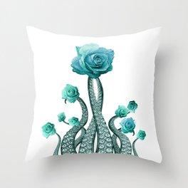 Octopus Garden Roses Decor Throw Pillow