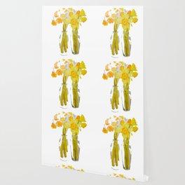 Daffodils watercolor Wallpaper