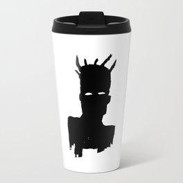 Jean Michel Basquiat - Self Portrait (Plaid), 1983 Travel Mug