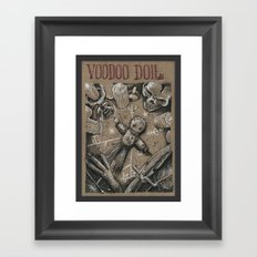Voodoo Doll (Drawlloween 4/31) Framed Art Print
