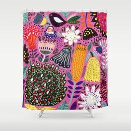 Summer Tropical Pattern Bird Flowers Shower Curtain
