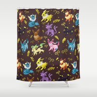 sylveon Shower Curtains featuring Eeveelutions by Agui-chan