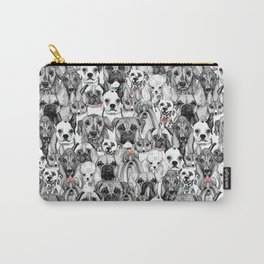 just dogs coral mint Carry-All Pouch