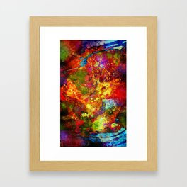 The Eye Of Craziness Framed Art Print
