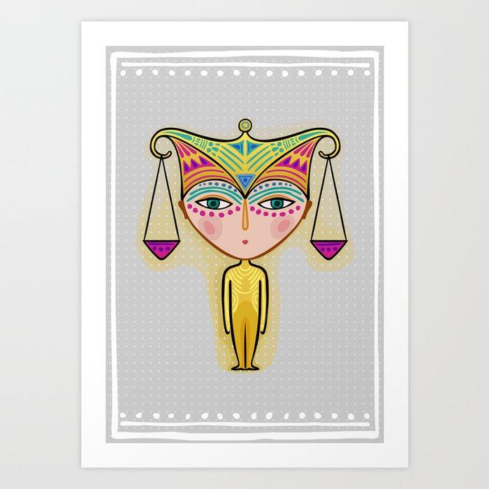 libra zodiac sign Art Print
