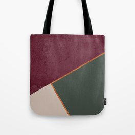 Burgundy Olive Green Gold and Nude Geometric Pattern #society6 #buyart Tote Bag