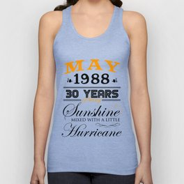 May 1988 Gifts 30 Years Anniversary Celebration Unisex Tank Top