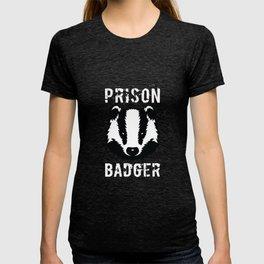 Prison Badger T-Shirt Distressed Prisoner Jail Inmate Tee T-shirt