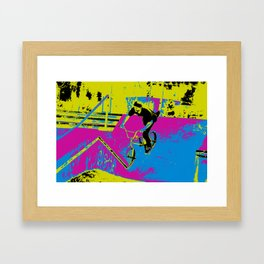 """Hitting the Ramp"" - BMX Biker Framed Art Print"