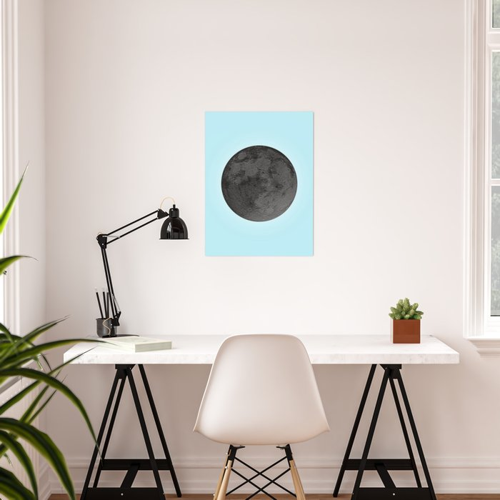 BLACK MOON + BLUE SKY Poster