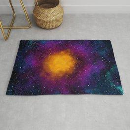Deep Colorful Galaxy Rug