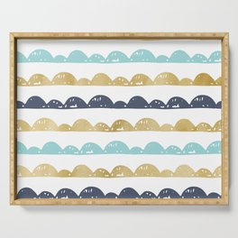 Golden Pastel Clouds Serving Tray