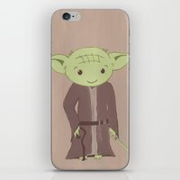 yoda iPhone & iPod Skins featuring Yoda by The Naptime Artist