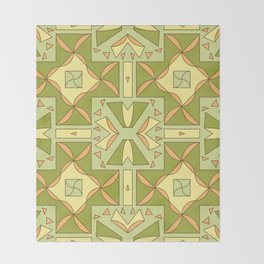 seamless pattern for ceramics Throw Blanket