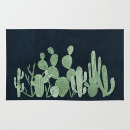 Green cactus garden Rug
