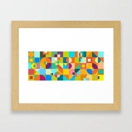 Shapes & Colors Framed Art Print