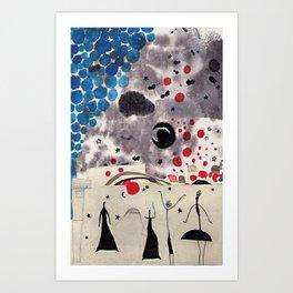 Blue Tree Of Happines  Art Print