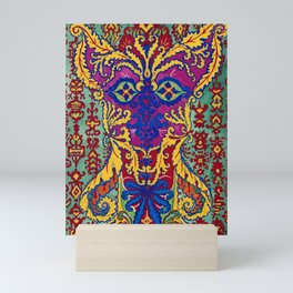 Abstract Cat Painting by Louis Wain Mini Art Print