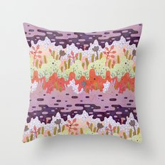 Crystal Forest Throw Pillow