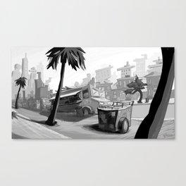 Vendors at Echo Park Canvas Print