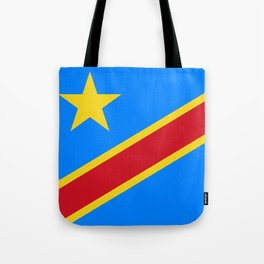 National flag of the Democratic Republic of the Congo, Authentic version (to scale and color) Tote Bag