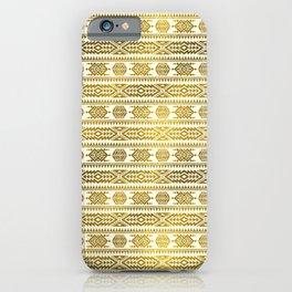 Gold  Aztec Peruvian Tribal Pattern iPhone Case